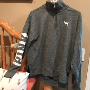 VS PINK quarter zip pullover! Size XS